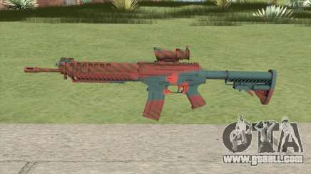 SG-553 Nukestripe Maroon (CS:GO) for GTA San Andreas