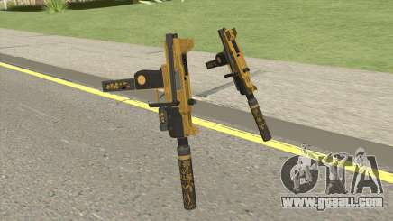 Micro SMG (Luxury Finish) GTA V Two Upgrades V6 for GTA San Andreas