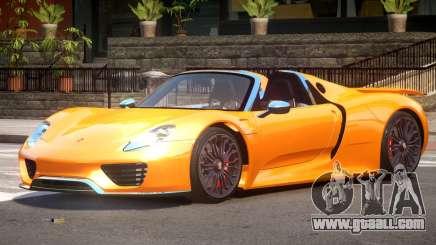 Porsche 918 Roadster V1.0 for GTA 4
