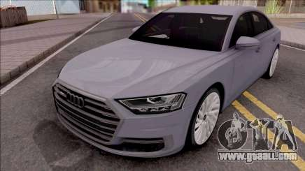 Audi A8 2018 Grey for GTA San Andreas
