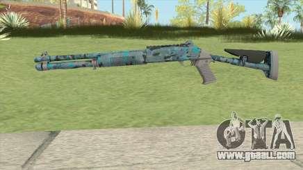 XM1014 Varicamo Blue (CS:GO) for GTA San Andreas
