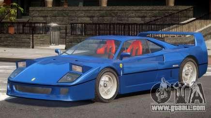 1995 Ferrari F40 V1.0 for GTA 4