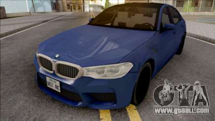 BMW M5 F90 2018 Blue for GTA San Andreas