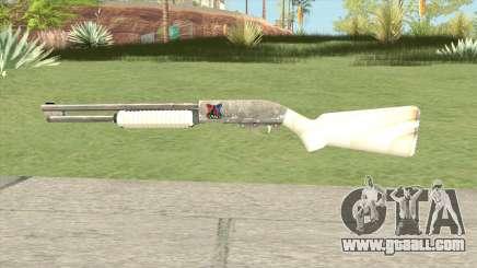 Pump Shotgun (White) for GTA San Andreas