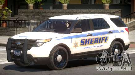 Ford Explorer Police V1.2 for GTA 4
