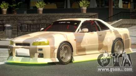 Nissan Skyline GT R34 V1.1 PJ2 for GTA 4