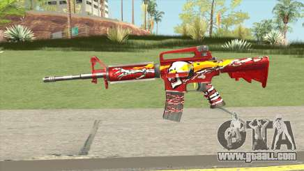 M4A1 (Flaming Skull) for GTA San Andreas