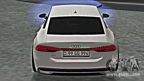 Audi A7 2020 Armenia for GTA San Andreas