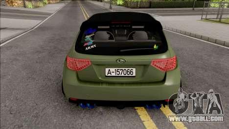 Subaru Impreza WRX STI 2009 for GTA San Andreas