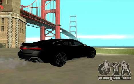 2020 Audi RS7 for GTA San Andreas