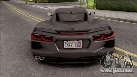 Chevrolet Corvette C8 2019 v2 for GTA San Andreas
