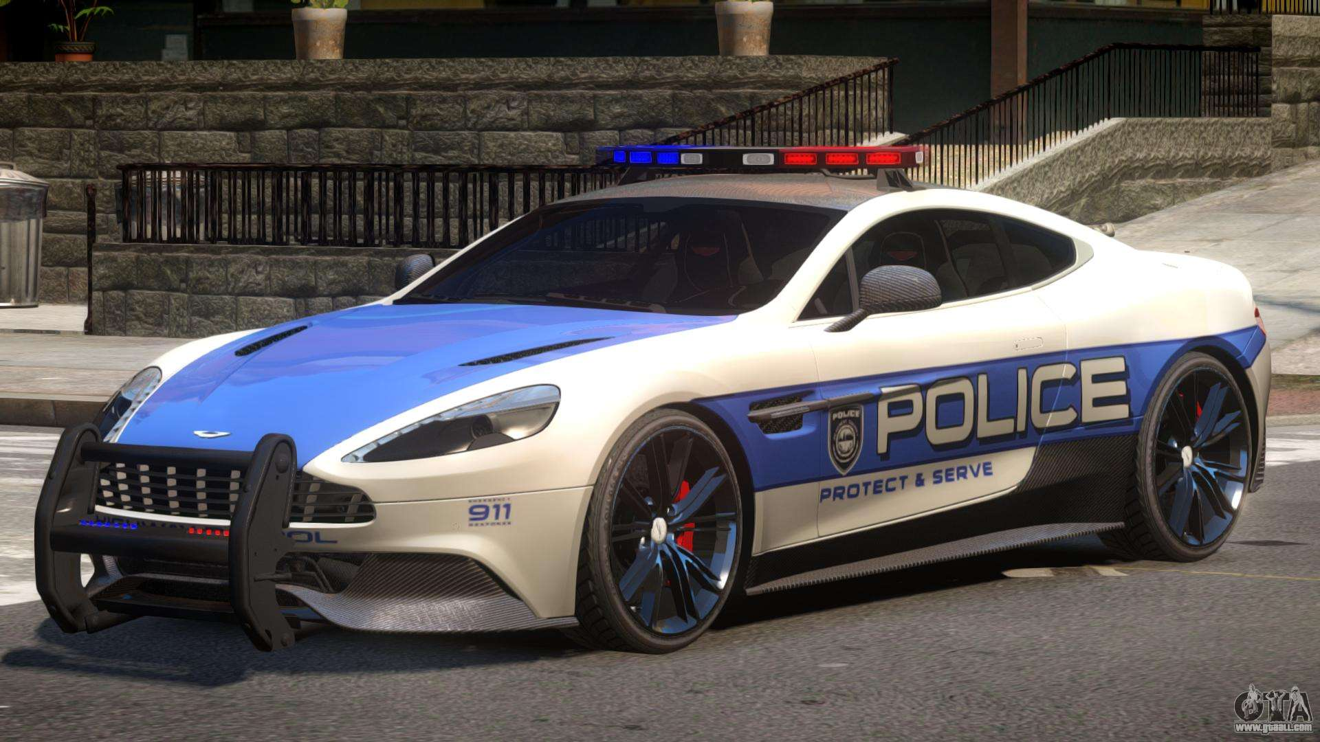 Aston Martin Vanquish Police V1 1 For Gta 4