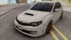 Subaru Impreza WRX STi 2008 White for GTA San Andreas