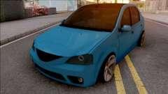 Dacia Logan Tuning Blue for GTA San Andreas