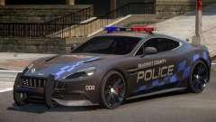 Aston Martin Vanquish Police V1.0 for GTA 4