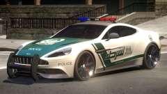 Aston Martin Vanquish Police V1.2 for GTA 4