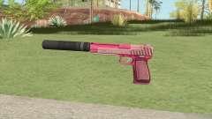 Pistol .50 GTA V (Pink) Suppressor V1 for GTA San Andreas