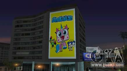 New Unikitty Poster On Building for GTA San Andreas