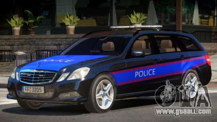 Mercedes E350 Police V1.0 for GTA 4