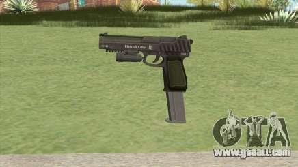 Pistol .50 GTA V (Green) Flashlight V2 for GTA San Andreas