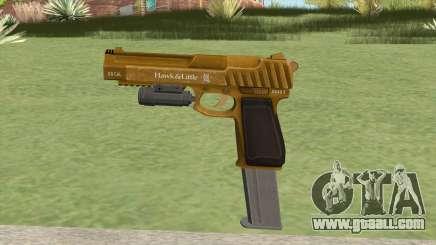Pistol .50 GTA V (Gold) Flashlight V2 for GTA San Andreas