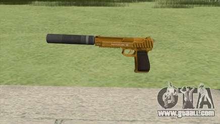Pistol .50 GTA V (Gold) Suppressor V1 for GTA San Andreas