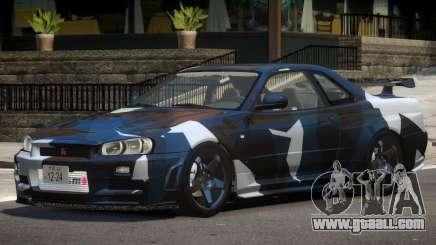 Nissan Skyline R34 V1.2 PJ2 for GTA 4