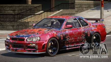 Nissan R34 GTR PJ4 for GTA 4