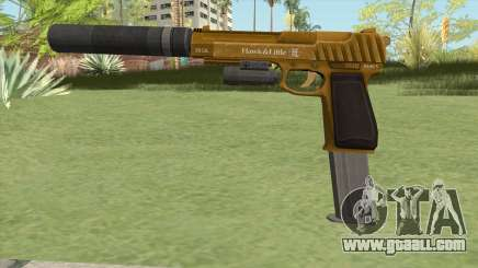Pistol .50 GTA V (Gold) Full Attachments for GTA San Andreas