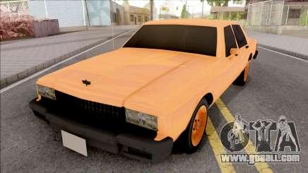 Chevrolet Caprice Orange for GTA San Andreas