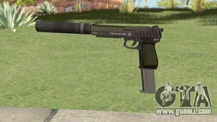 Pistol .50 GTA V (Green) Suppressor V2 for GTA San Andreas