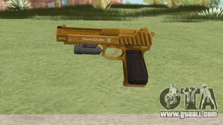 Pistol .50 GTA V (Gold) Flashlight V1 for GTA San Andreas