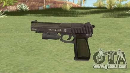 Pistol .50 GTA V (Green) Flashlight V1 for GTA San Andreas