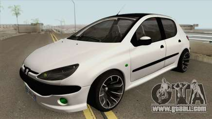 Peugeot 206 (Tuning) for GTA San Andreas