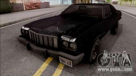 Ford Gran Torino 1974 Black for GTA San Andreas