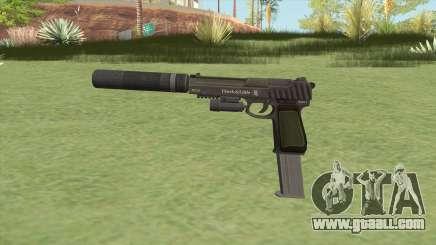 Pistol .50 GTA V (Green) Full Attachments for GTA San Andreas