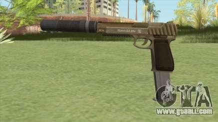 Pistol .50 GTA V (Army) Suppressor V2 for GTA San Andreas