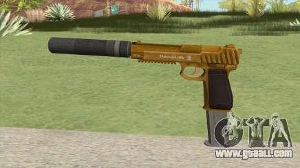 Pistol .50 GTA V (Gold) Suppressor V2 for GTA San Andreas