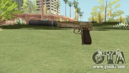 Pistol .50 GTA V (Army) Suppressor V1 for GTA San Andreas