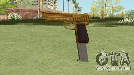 Pistol .50 GTA V (Gold) Base V2 for GTA San Andreas