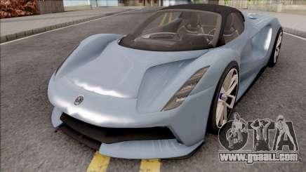 Lotus Evija 2021 for GTA San Andreas