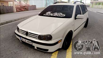 Volkswagen Golf 4 White for GTA San Andreas