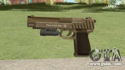 Pistol .50 GTA V (Army) Flashlight V1 for GTA San Andreas