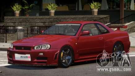 Nissan Skyline R34 V1.2 for GTA 4