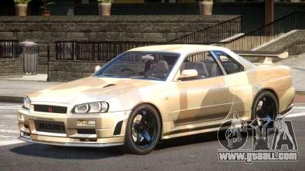Nissan R34 GTR PJ1 for GTA 4