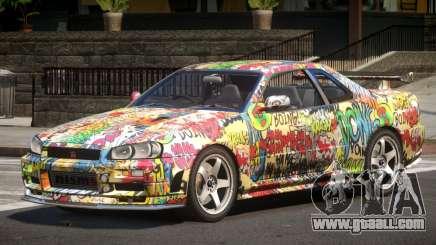 Nissan R34 GTR PJ5 for GTA 4