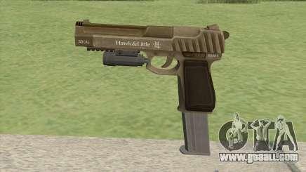 Pistol .50 GTA V (Army) Flashlight V2 for GTA San Andreas