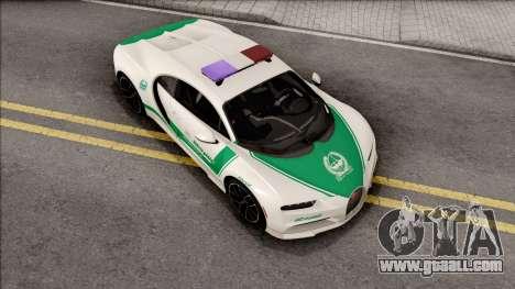 Bugatti Chiron 2017 Dubai Police for GTA San Andreas