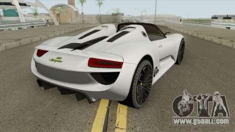 Porsche 918 Spyder (Concept) for GTA San Andreas