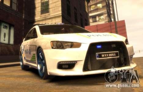 Mitsubishi Evo X Malaysian Police Car for GTA 4